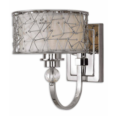 Uttermost Brandon 1 Lt Wall Sconce in Nickel Plated