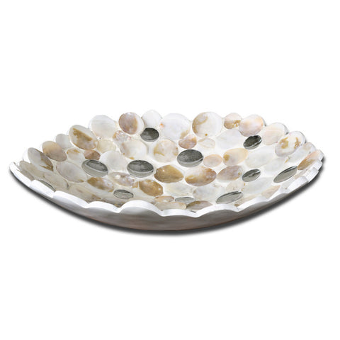 Uttermost Capiz Bowl in Matte White