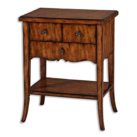 Uttermost Carmel End Table in Warm Old Barn
