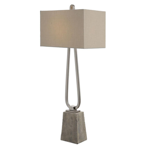 Uttermost Carugo Polished Nickel Lamp