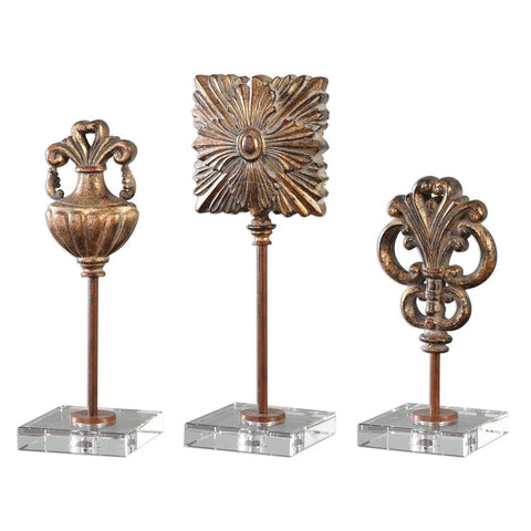 Uttermost Cesare Gold Accessories - Set of 3