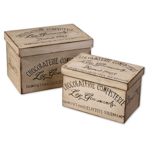 Uttermost Chocolaterie Boxes (Set of 2)