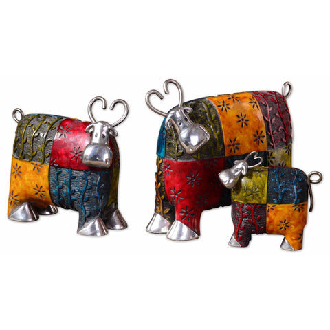 Uttermost Colorful Cows Accessories (Set of 3)