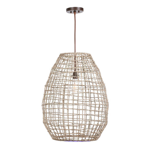 Uttermost Cross Weave 1 Light Pendant