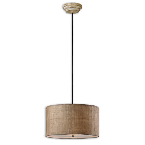 Uttermost Dafina 3 Lt Hanging Shade in Antique Burlap