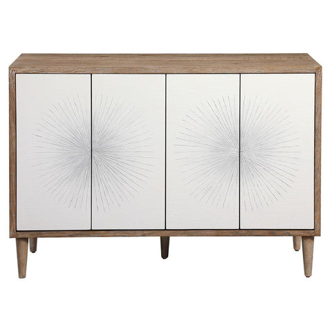Uttermost Dani 4 Door White Cabinet