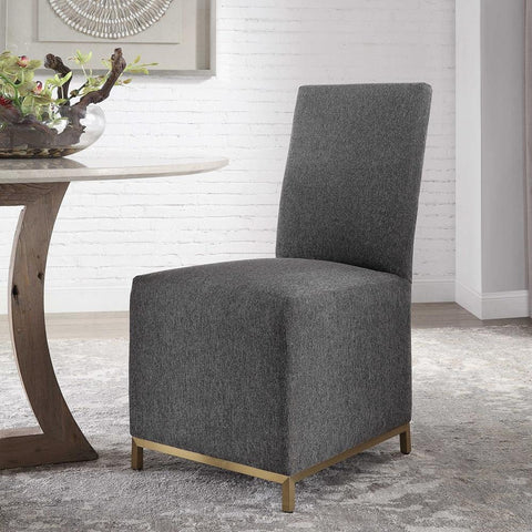 Uttermost Gerard Armless Chairs, Set Of 2