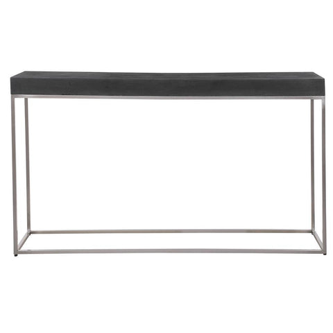 Uttermost Jase Black Concrete Console Table