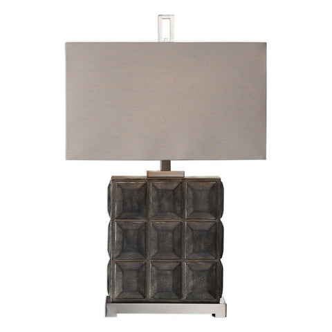 Uttermost Kastoria Rusty Bronze Block Lamp