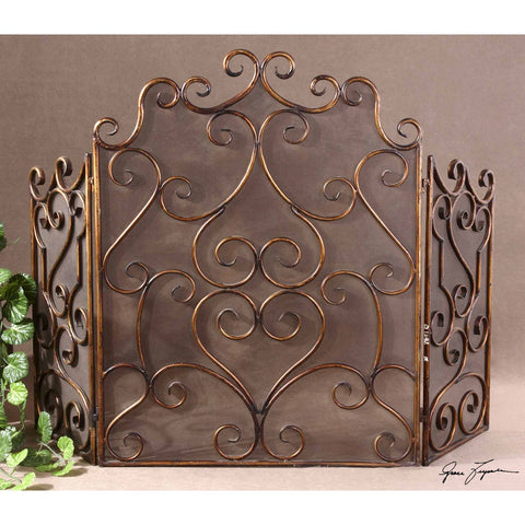 Uttermost Kora Metal Fireplace Screen