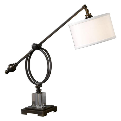 Uttermost Levisa Dark Bronze Desk Lamp