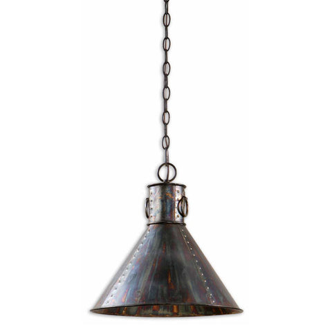 Uttermost Levone 1 Lt Pendant in Oxidized Bronze