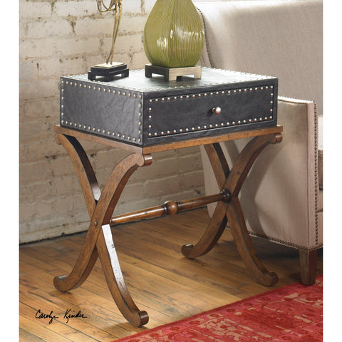 Uttermost Lok Accent Table