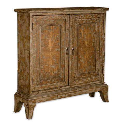 Uttermost Maguire Console Cabinet in Warm Oatmeal