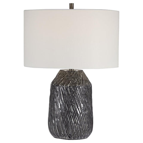 Uttermost Malaya Graphic Black Table Lamp