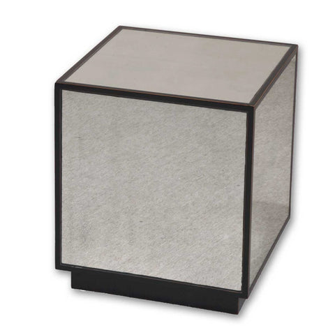 Uttermost Matty Mirrored Cube in Antiqued Mirrors