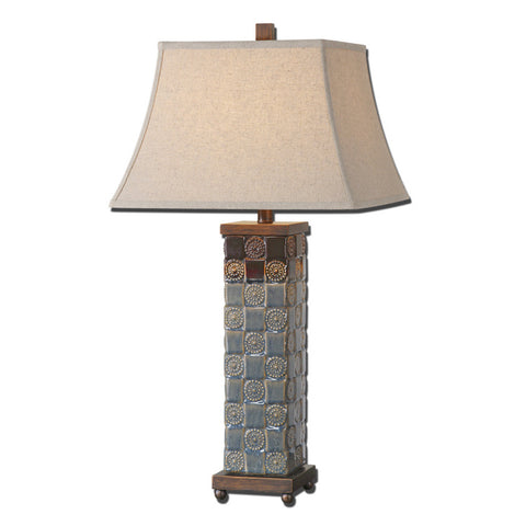 Uttermost Mincio Table Lamp w/ Oatmeal Linen Fabric Shade