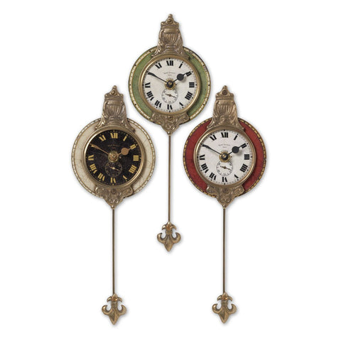 Uttermost Monarch Clock (Set of 3)