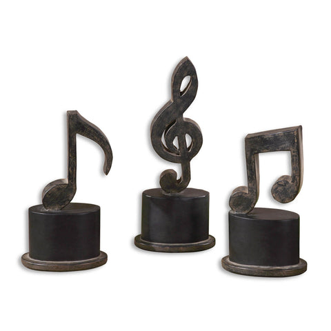 Uttermost Music Notes (Set of 3)