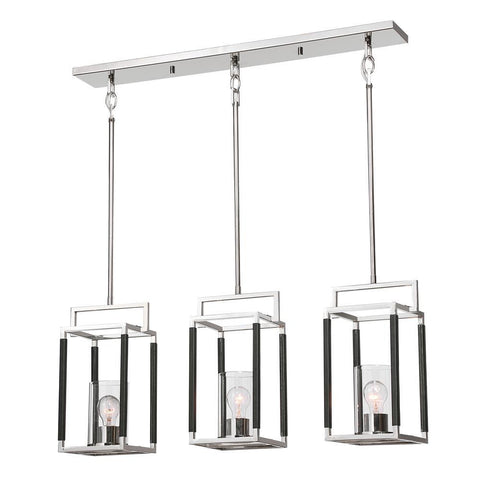 Uttermost Newburgh 3 Light Nickel Linear Pendant