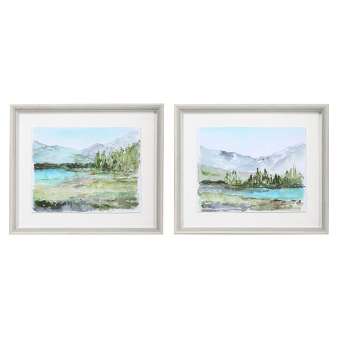 Uttermost Plein Air Reservoir Watercolor Prints, S/2