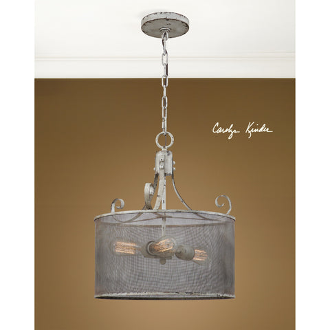 Uttermost Pontoise 3 Light Drum Pendant
