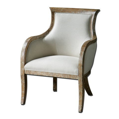 Uttermost Quintus Armchair in Almond