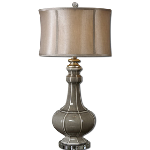 Uttermost Racimo Table Lamp w/ Modified Drum Shade in Champagne Bronze