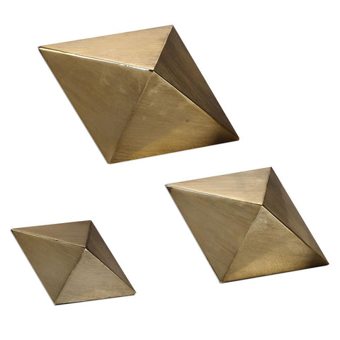 Uttermost Rhombus Champagne Accents - Set of 3