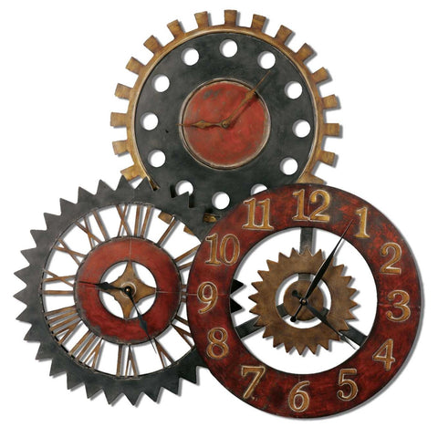 Uttermost Rusty Movements Clock