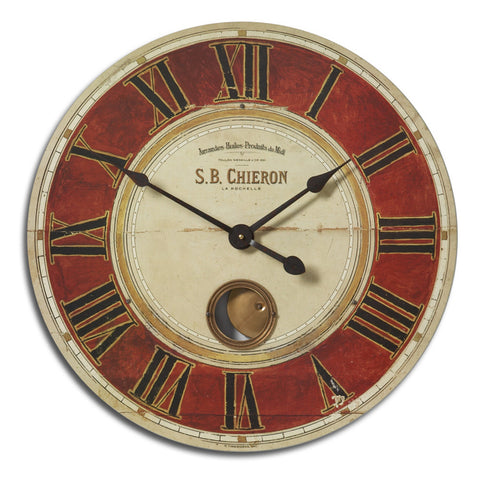 Uttermost S.B.Chieron 23 Inch Clock in Cast Brass