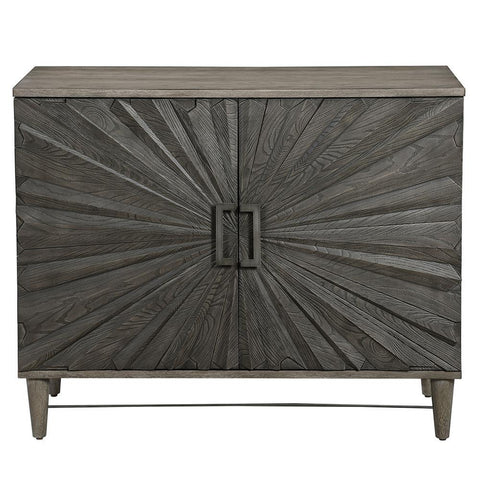 Uttermost Shield Gray Oak 2 Door Cabinet