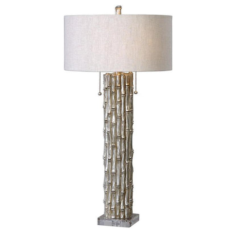 Uttermost Silver Bamboo Table Lamp