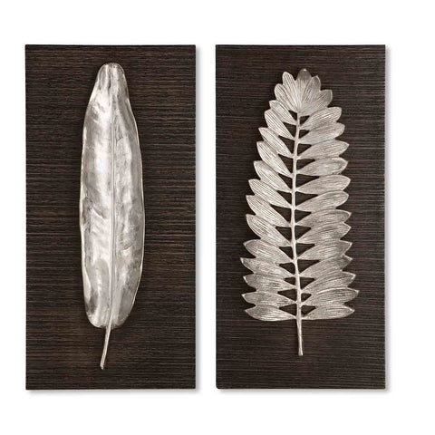 Uttermost Silver Leaves Wall Art (Set of 2)