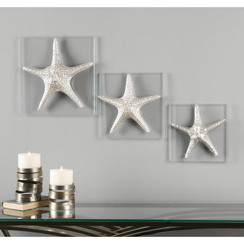 Uttermost Silver Starfish Wall Art Set Of 3