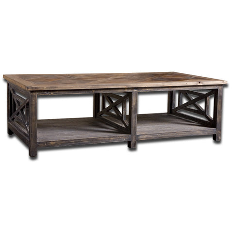 Uttermost Spiro Cocktail Table in Brushed Black