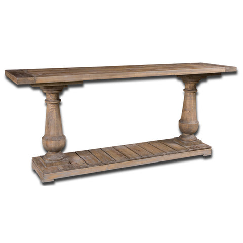 Uttermost Stratford Console in Distressed Patina