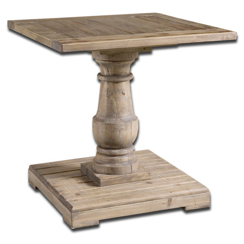 Uttermost Stratford End Table in Distressed Patina