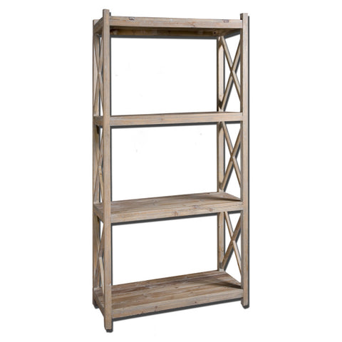 Uttermost Stratford Etagere in Reclaimed Fir Wood