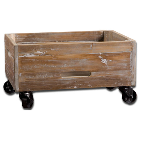 Uttermost Stratford Rolling Box in Reclaimed Fir Wood