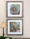 Uttermost Sublime Truth 2 Framed Panels in Distressed Brown Frames