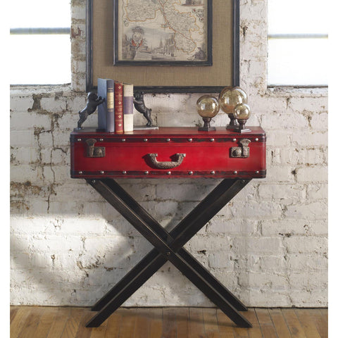 Uttermost Taggart Red Console Table