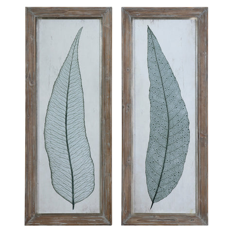 Uttermost Tall Leaves Framed Art Set/2