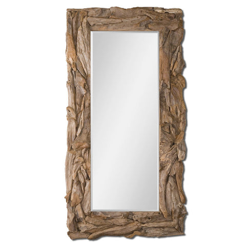 Uttermost Teak Root Natural Mirror w/ Sculpted Teak Root Frame
