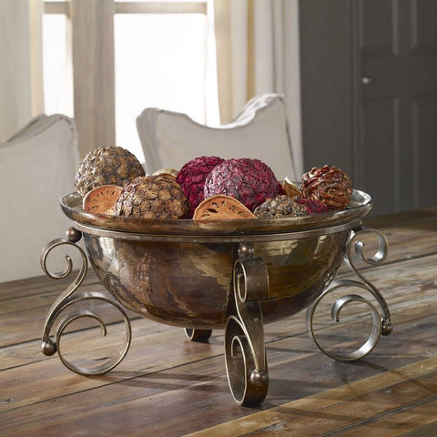 Uttermost Uttermost Alya Bronze Glass Bowl