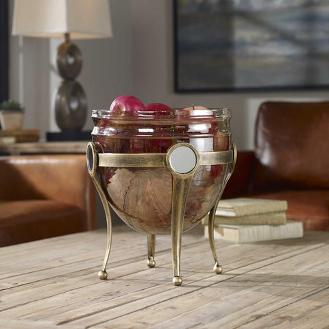 Uttermost Uttermost Asmita Gold Glass Bowl