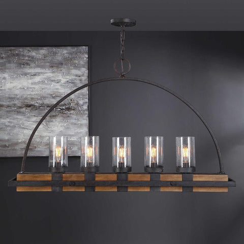 Uttermost Uttermost Atwood 5 Light Rustic Linear Chandelier