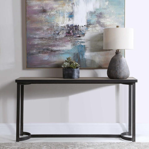 Uttermost Uttermost Basuto Steel Console Table