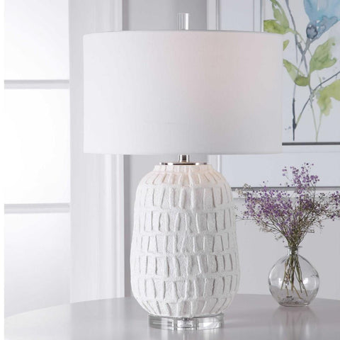 Uttermost Uttermost Caelina Textured White Table Lamp