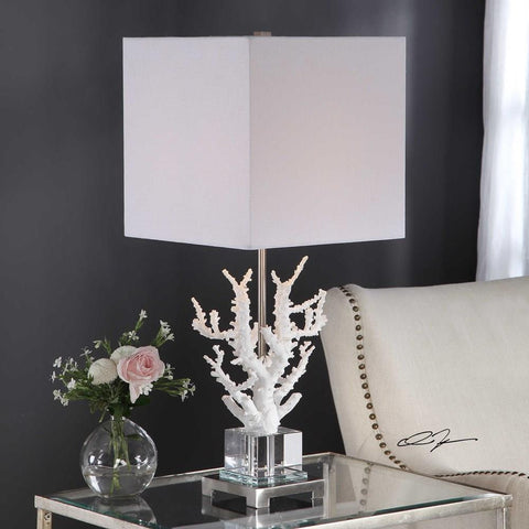Uttermost Uttermost Corallo White Coral Table Lamp